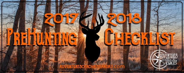 2017 2018 Adventures PreHunt Checklist
