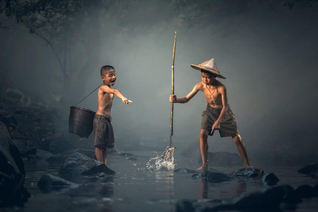 children spearfishing how to fishing for beginners