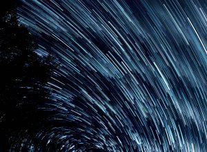 star filled sky focus on god